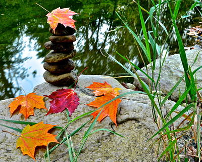 Autumn Zen Poster by Frozen in Time Fine Art Photography