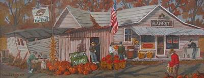 Poster featuring the painting Autumn's Charm by Tony Caviston