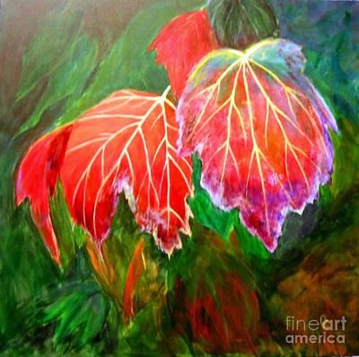 Autumn's Dance Poster by Nancy Czejkowski