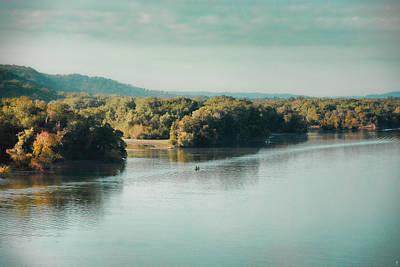 Autumn's Knocking On The Door - River Scene Poster by Jai Johnson