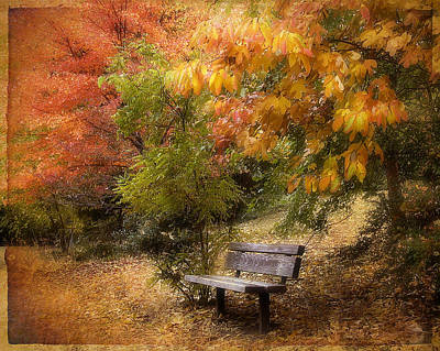 Autumn's Repose Poster by Jessica Jenney