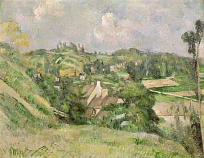 Auvers-sur-oise, Seen From The Val Harme Poster by Paul Cezanne