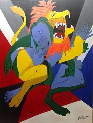 Avatar Series-narasimha Poster by Chinmaya BR