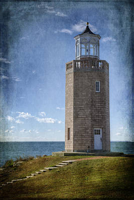 Avery Point Lighthouse Poster by Joan Carroll
