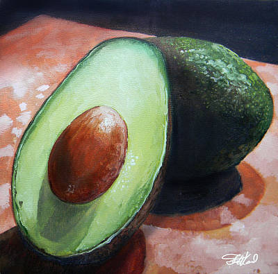Avocados Poster by Steve Goad
