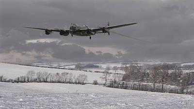 Avro Lancaster - Limping Home Poster