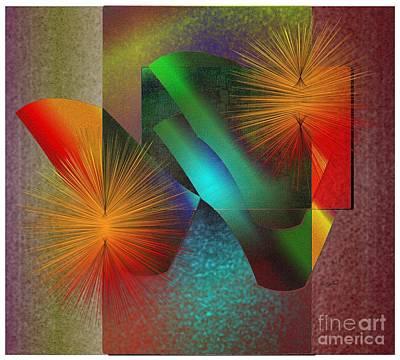 Poster featuring the digital art Awake by Iris Gelbart