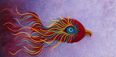 Mythical Phoenix Awakening Poster