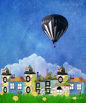 Away Above The Chimney Tops Poster
