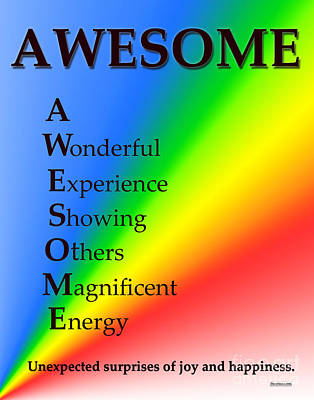 Awesome Buseyism - Original Buseyism Artwork Poster by Buseyisms Inc Gary Busey