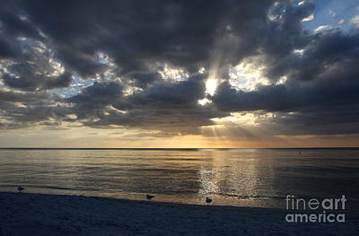 Awesome Gulf Coast Sunset Poster by Christiane Schulze Art And Photography