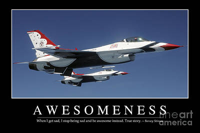 Awesomeness Inspirational Quote Poster by Stocktrek Images