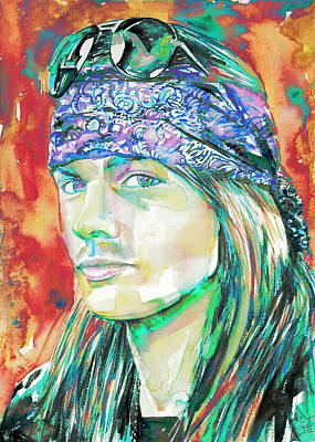 Axl Rose Portrait.2 Poster