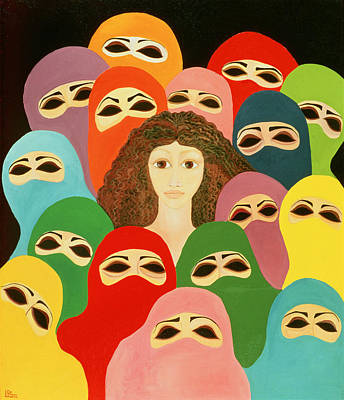 Ayesha, 1989 Oil On Canvas Poster by Laila Shawa