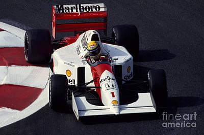 Ayrton Senna. 1992 French Grand Prix Poster