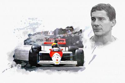 Ayrton Senna Genius Poster by Roger Lighterness