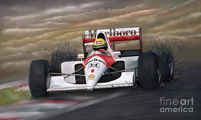 Ayrton Senna Poster by Linton Hart