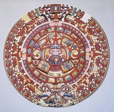 Aztec Calendar 1479, Also Named Piedra Poster by Everett