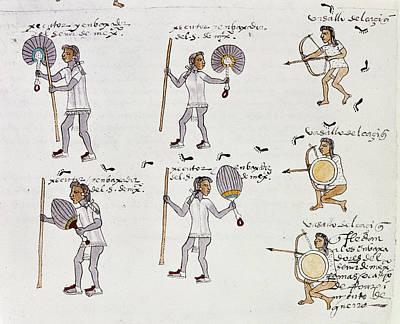 Aztec Codex Mendoza, 1540 Poster
