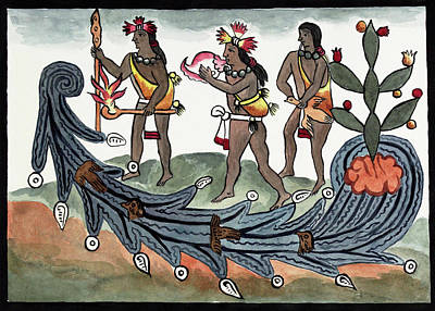 Aztec Drought Rituals Poster by Library Of Congress