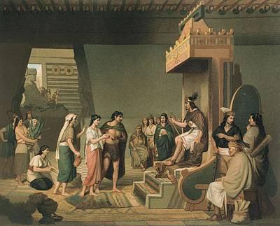 Aztec Empire. Pulque Alcoholic Beverage Poster