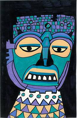 Aztec Mask Poster by Don Koester