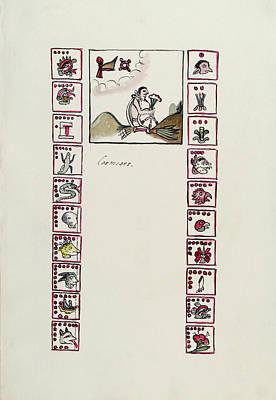 Aztec Month Tecuilhuitontli Poster