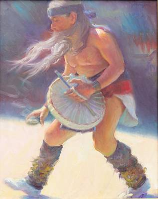Aztec Sun Dancer Poster by Ernest Principato