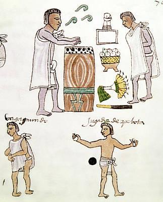 Aztecs Recreation, C1540 Poster by Granger