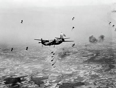 B-26 Martin Marauder Aircraft Dropping Poster