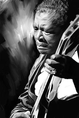 B B King Artwork Poster by Sheraz A