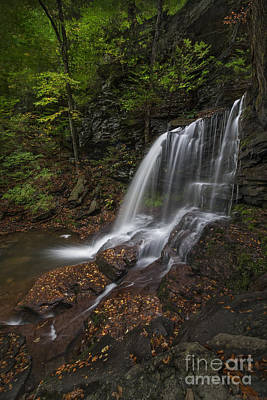 Poster featuring the photograph B Reynolds Falls by Roman Kurywczak