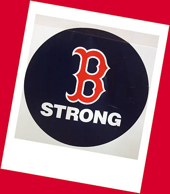 B Strong Red White And Blue Poster