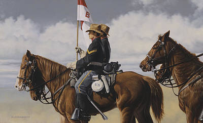 Poster featuring the painting B Troop by Ron Crabb