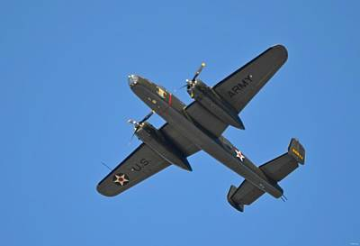 B25 Mitchell Wwii Bomber On 70th Anniversary Of Doolittle Raid Over Florida 21 April 2013 Poster