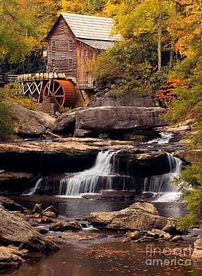 Babcock Grist Mill And Falls Poster by Jerry Fornarotto