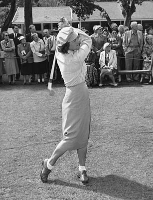 Babe Didrikson Teeing Off Poster by Julian Graham