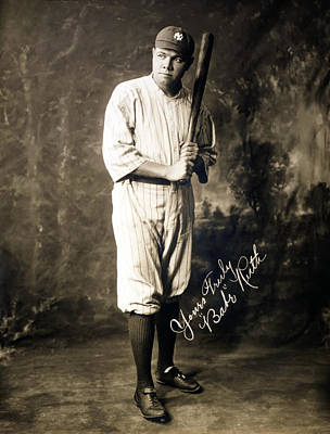 Babe Ruth 1920 Poster by Mountain Dreams