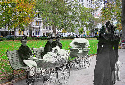 Babies In Rittenhouse Square Poster