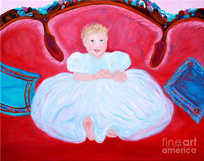 Poster featuring the painting Baby Girl. Inspirations Collection. by Oksana Semenchenko