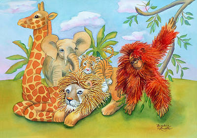 Baby Jungle Animals Poster