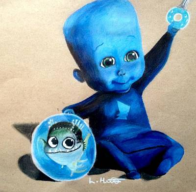 Baby Megamind Poster by Loren Hill