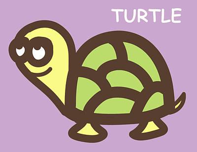 Baby Turtle Nursery Wall Art Poster by Nursery Art