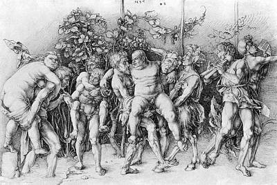 Bacchanal With Silenus - Albrecht Durer Poster by Daniel Hagerman