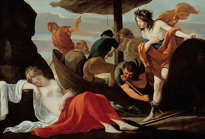 Bacchus Discovering Ariadne On Naxos Poster by Louis Le Nain