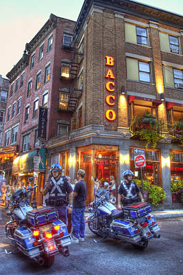 Bacco In The North End Boston Poster by Joann Vitali