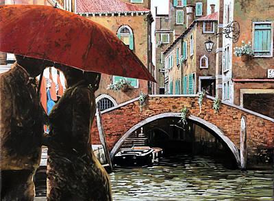 Baci Tra Le Calli Poster by Guido Borelli