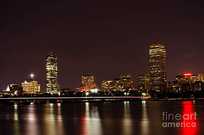 Poster featuring the photograph Back Bay At Night by Mike Ste Marie
