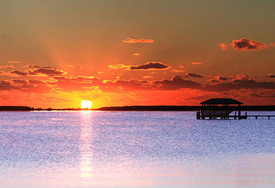 Back Bay Sunrise Poster