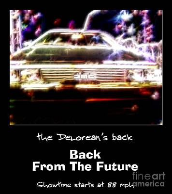 Back From The Future Poster by Renee Trenholm